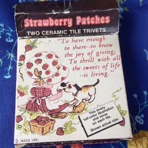 Strawberry shortcake knock off tile trivets